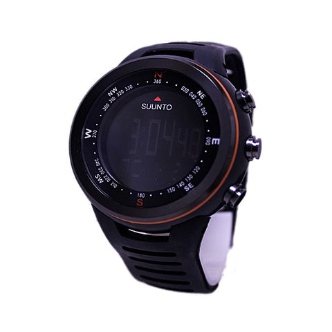 Digital Black Rubber Strap Watch - Black