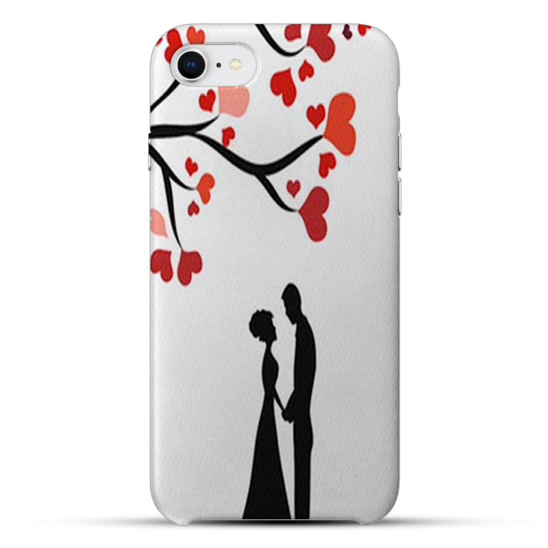 Red Heart Tree Silicon Mobile Cover