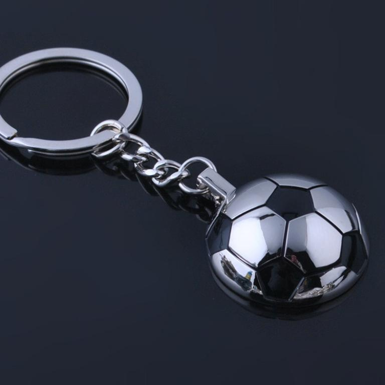 Half Ball Soccer key Chain