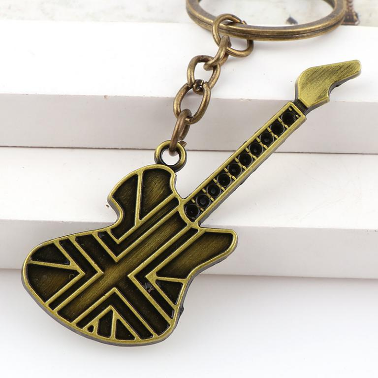 Golden - Guitar key chain