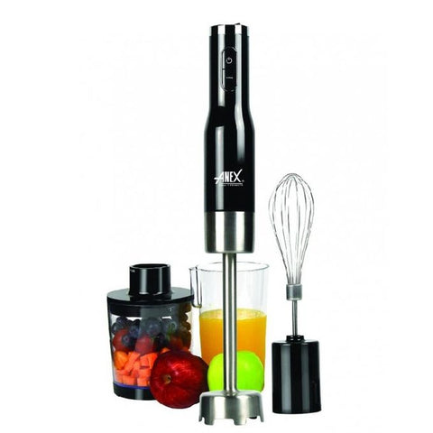 Anex AG-133 - Deluxe Hand Blender - 800 Watts - Black & Silver