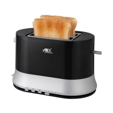 Anex AG-3017 - 2 Slice Toaster - Black (Brand Warranty)