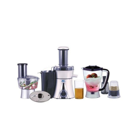 Anex AG-3051 - Multifunction Food Processor - 700 Watts - Black & Silver