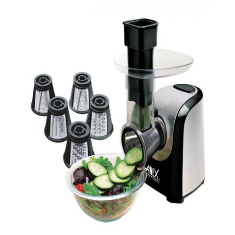 Anex AG-395 - Deluxe Vegetable Slicer - 150 Watts - Black & Silver