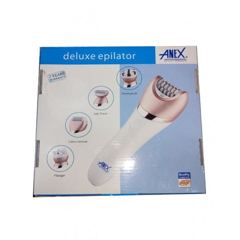 Anex AG-7045 Deluxe Epilator - White & Golden (Brand Warranty