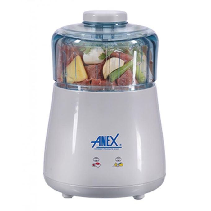 Anex Deluxe Chopper - Stainless Steel Blades. - AG-3047 - White - 750 Watts