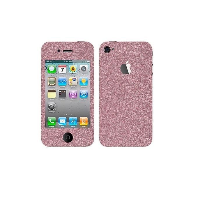 Apple Iphone 4 Glitter Mobile Skin - Pink