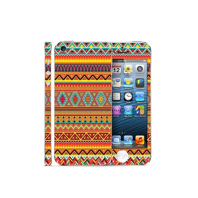 Apple Iphone 5 Aztec Pattern Custom Mobile Skin - Multicolor
