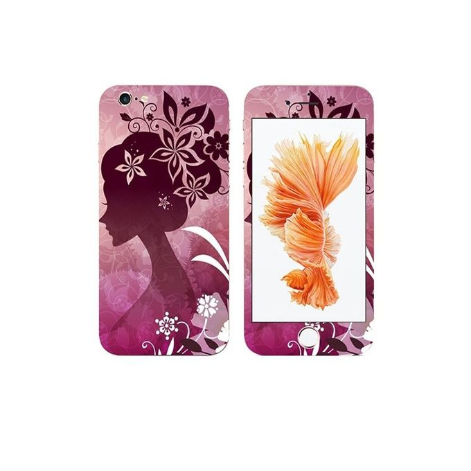Apple Iphone 6 Flower Girl Custom Mobile Skin - Multicolor