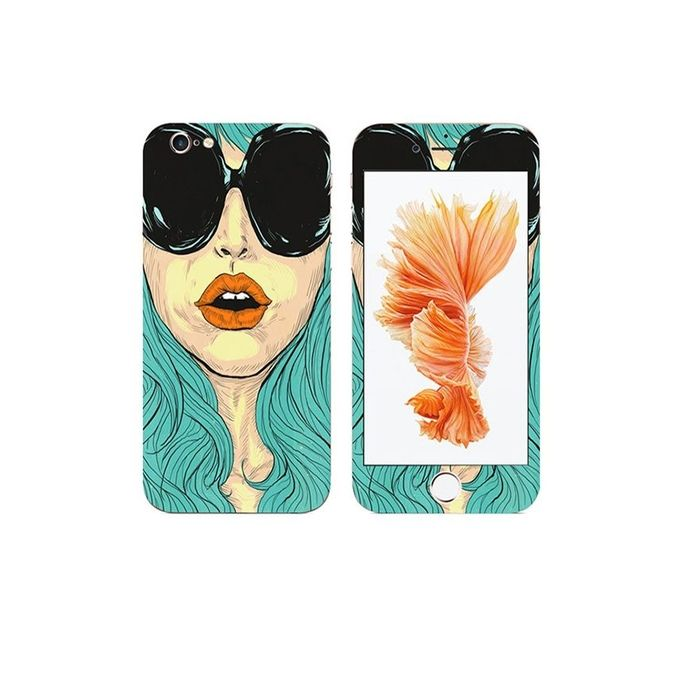 Apple Iphone 6s Cool Girl Custom Mobile Skin - Multicolor
