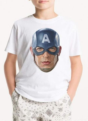 White Avenger Head Kids T-Shirt