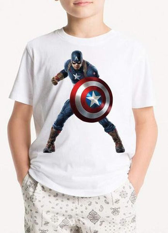 White Avenger Man Kids T-Shirt
