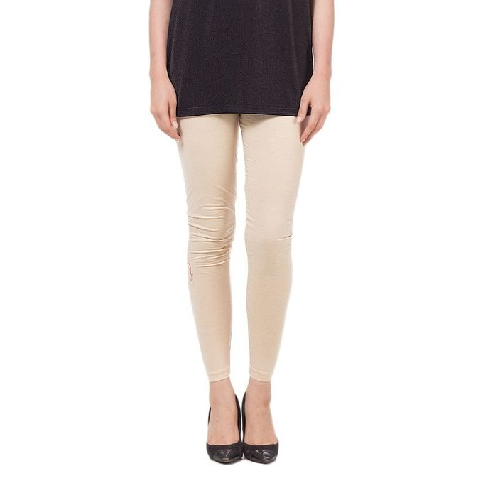 Beige Cotton Tights For Women