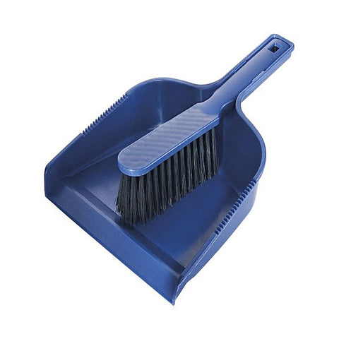 Brush with Dustpan Set Plastic - Blue