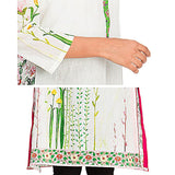 FC Digital Printed White Lawn Kurta for Women