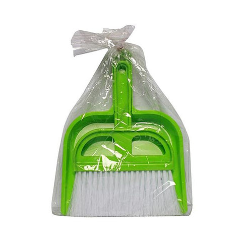 Dustpan Brush Plastic - Green
