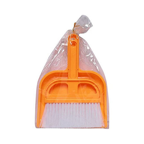 Dustpan Brush Plastic - Orange