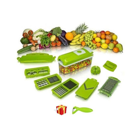 Genius Nicer Dicer Fruits & Vegetables Cutter with 10 Functions