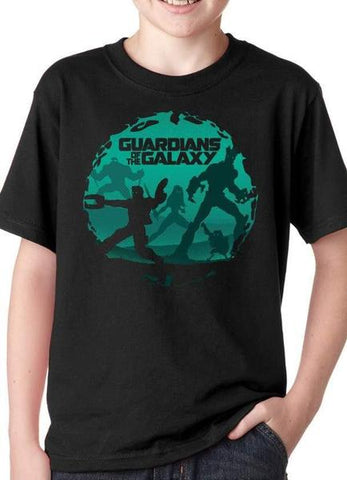 Black Guardians Of The Galaxy Kids T-Shirt