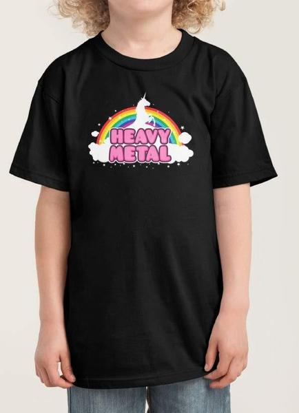 Black Heavy Metal Kids T-Shirt