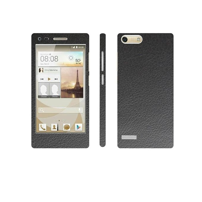 Huawei Ascend G6 Black Common Leather Texture Mobile Skin