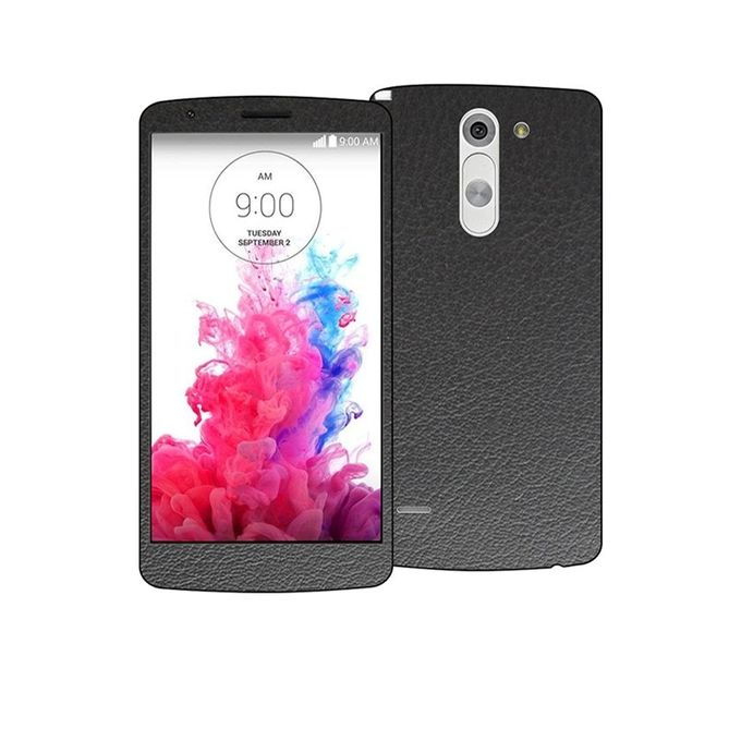 LG G3 Stylus Common Leather Texture Mobile Skin - Black