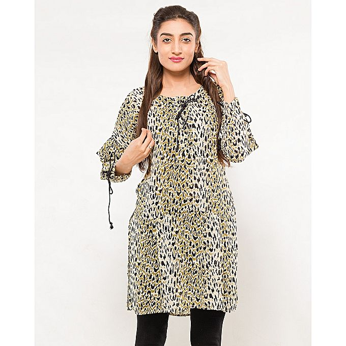 FC Leopard Printed Kurta for Women