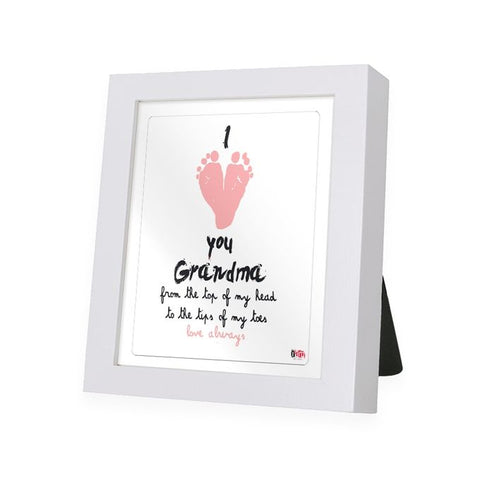 Love You Grandma White Frame - IAM-WF13