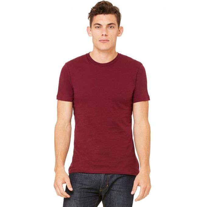 dd52293d10e Buy Online Maroon Plain Half Sleeves T-Shirt for Men – Wink.pk