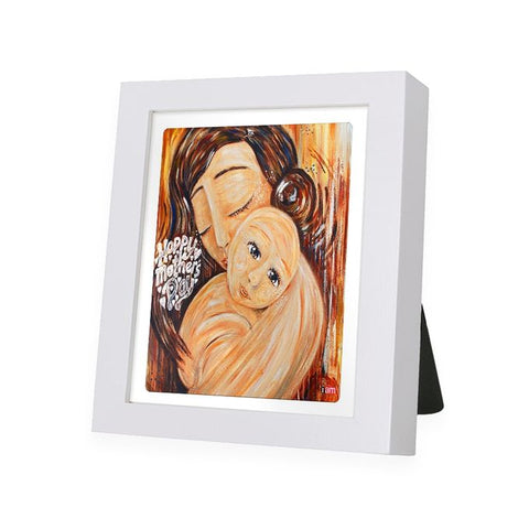 Mother Love White Frame - IAM-WF8