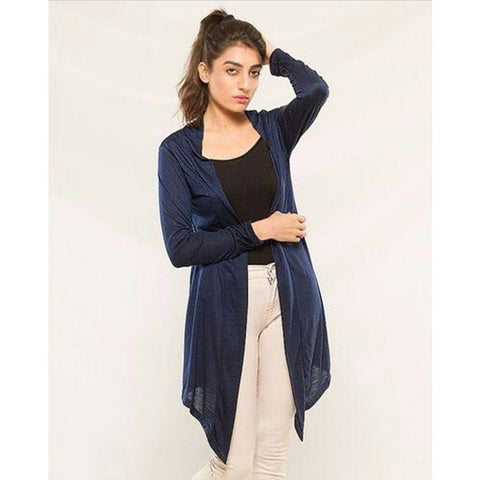 Navy Blue Stylish Shrug for Women