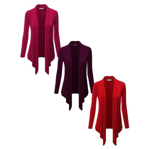 Pack Of 3 Plain Ladies Shrug