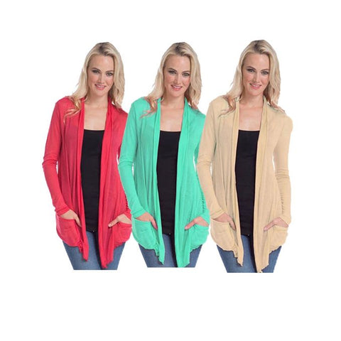 Pack of 3 - Multicolour Polyester Shrugs for Women