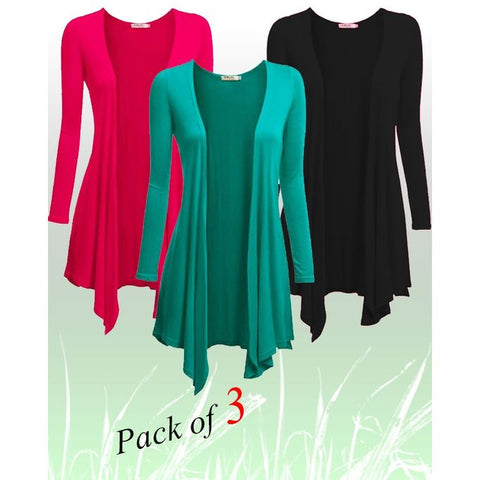 Pack of 3 - Multicolour Shrugs for Women