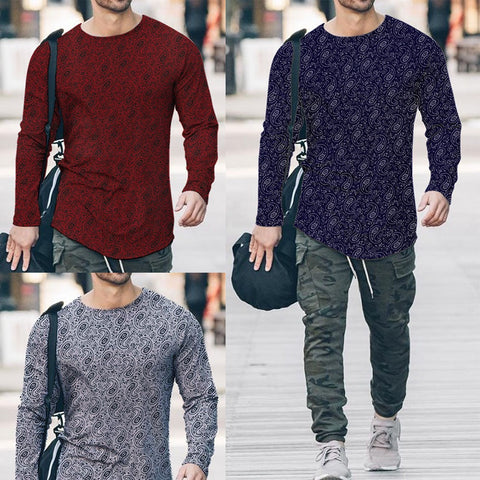 Pack of 3 Printed T-Shirts for Men