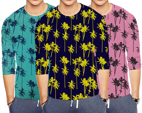 Pack of 3 Stylish Printed T-Shirts for Men