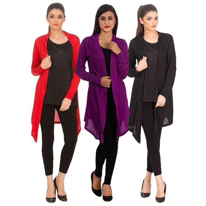 Pack of 3 shrugs for women