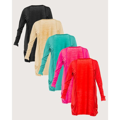 Pack of 5 - Cotton Pocket Shrugs