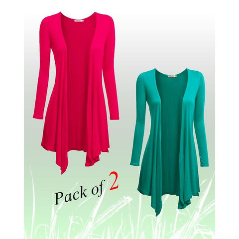 Pink & Green Cotton Shrugs for Women