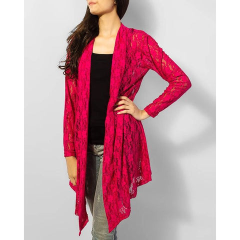 Pink Net Shrug Style For Outer Wear With Any Dress