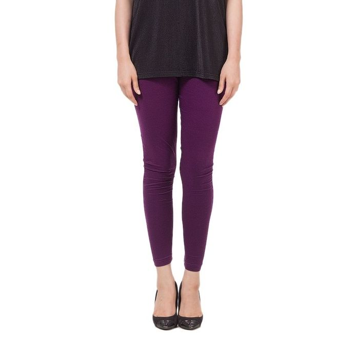 Purple Cotton Tights for Women