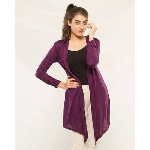 Purple Stylish Shrug for Women