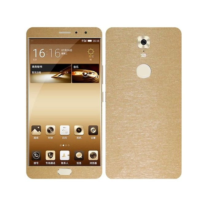 Q Mobile M6 3M Brushed Metal Texture Mobile Skin - Gold