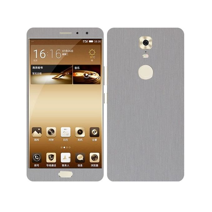 Q Mobile M6 Brushed Metal texture Mobile Skin - Silver
