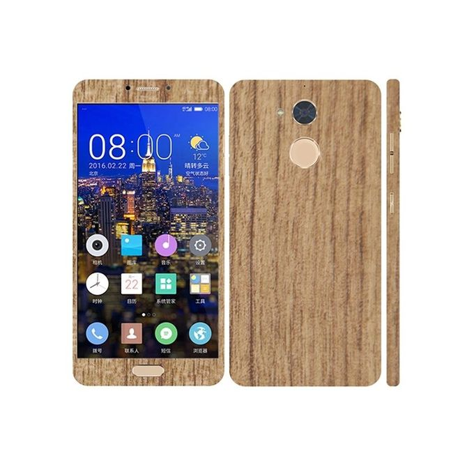 Q Mobile Z14 Mahogany Wooden Texture Mobile Skin -Mahogany