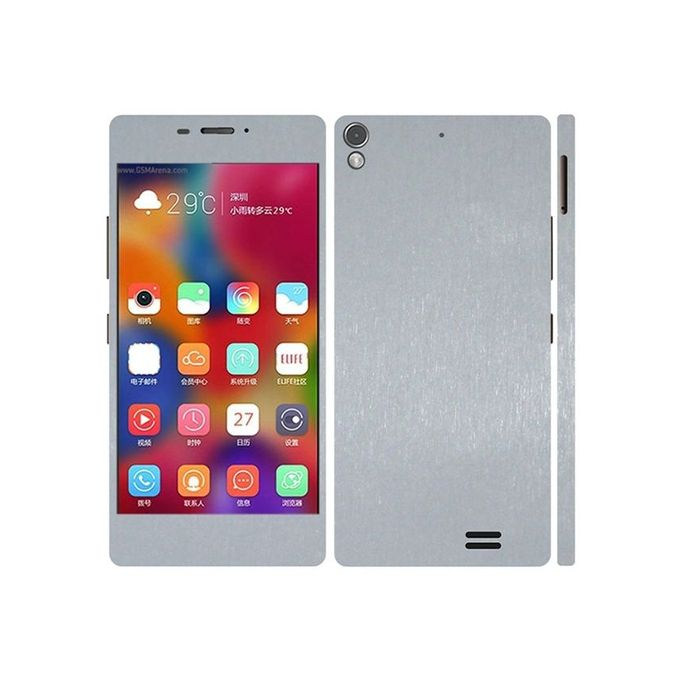 Q Mobile Z7 3M Brushed Metal Texture Skin - Silver