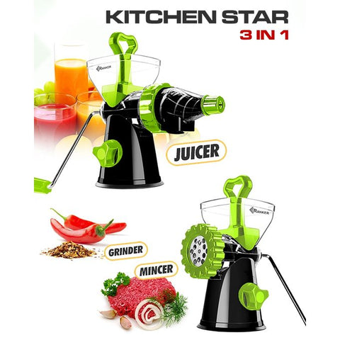 Ranker Kitchen Star 3 In 1 - Juicer, Grinder & Mincer