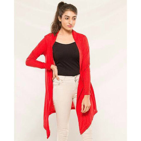 Red Stylish shrug for women