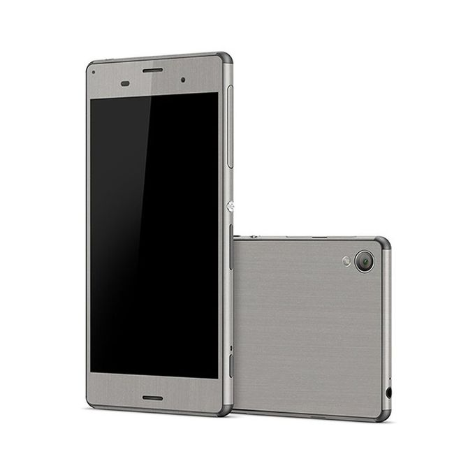 SONY XPERIA Z3 Silver Brushed Metal Texture Skin