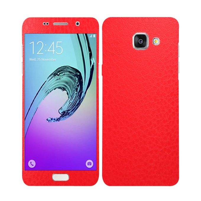 Samsung Galaxy A3 2016 Red Common Leather Texture Mobile Skin
